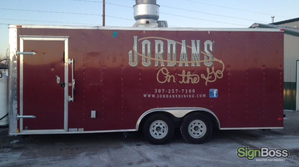 Jordan's On the Go - Trailer Graphic Logo Design