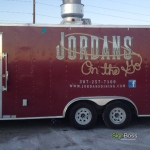 Jordan's On the Go – Trailer Graphic Logo Design