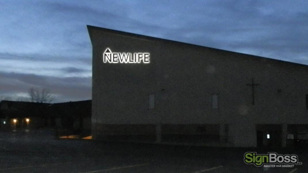 NEW LIFE CHURCH - SignBoss LLC - Gillette, Wyoming SignBoss