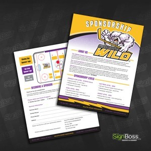 Gillette Wild Hockey – Sponsorship Form