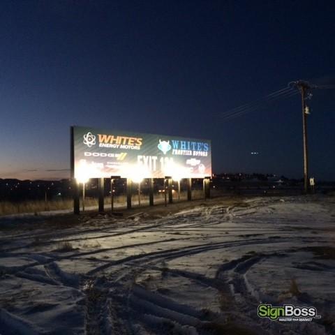 White's Dealerships - Billboard Sign