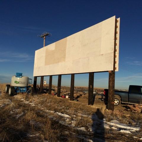Installing billboard frame in Laurel MT