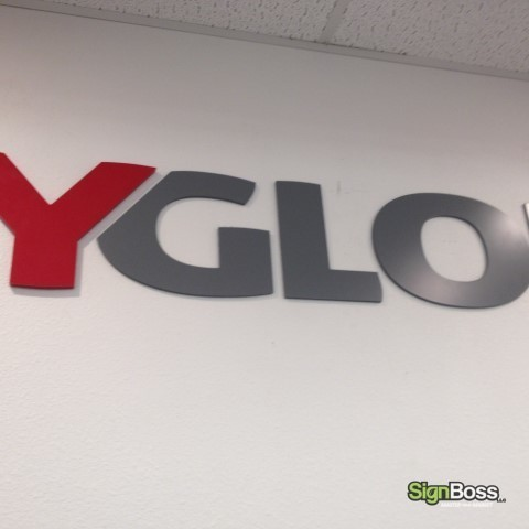 Joy Global – Close Up of Lobby Dimensional Letters