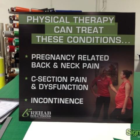 Rehab Solutions - Custom Small Tradeshow Display