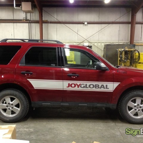 Joy Global – SUV Graphics Side View