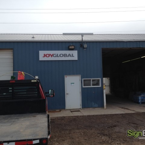 Joy Global – Maintenance Dept. Building Sign