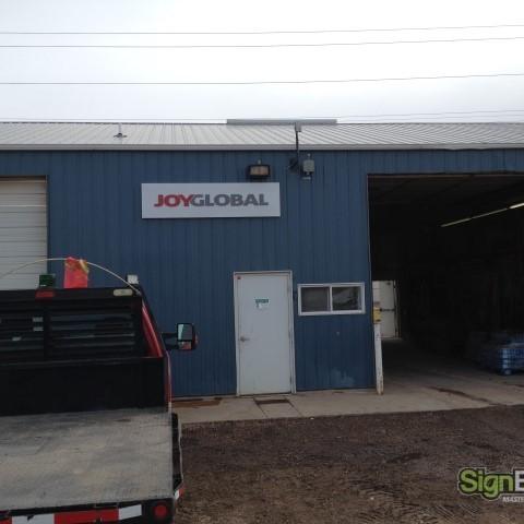 Joy Global – Maintenance Dept. Building Sign