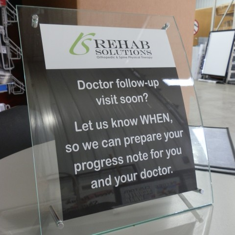 Rehab Solutions – Custom Desk Sign