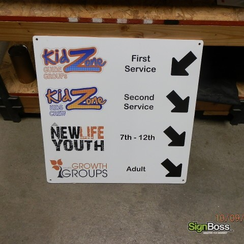 New Life Church – Interior Directional Sign