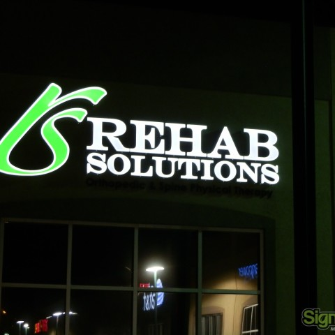 Rehab Solutions – Lit Dimensional Building Sign
