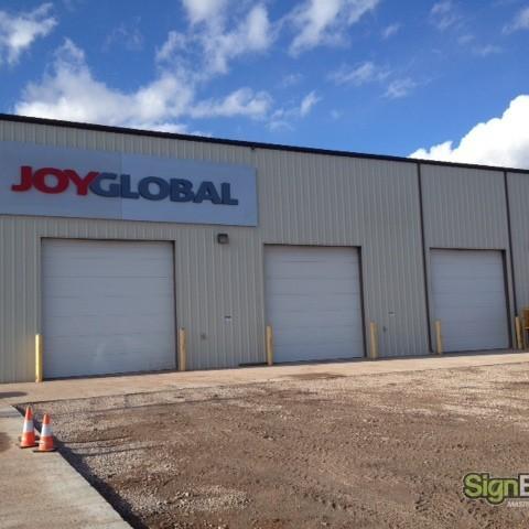 Joy Global – Dimensional LED Building Sign