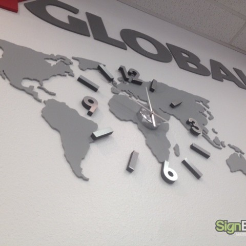 Joy Global – Custom Lobby Clock Sign