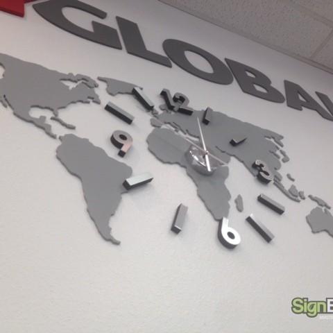 Joy Global – Custom Lobby Clock Sign