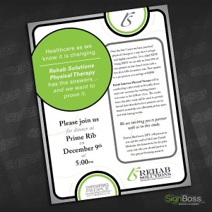 Rehab Solutions – Dinner Invitation Design