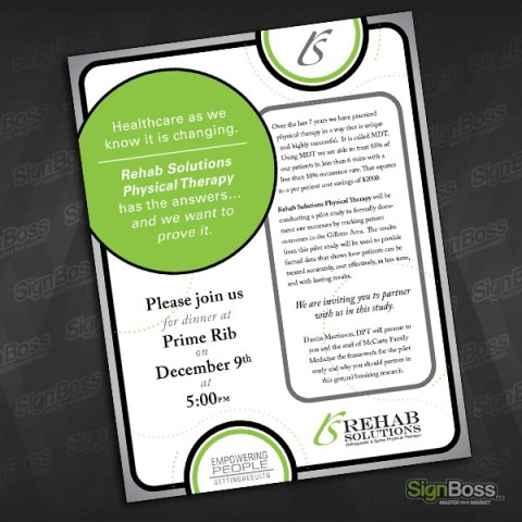 Rehab Solutions – Dinner Invitation