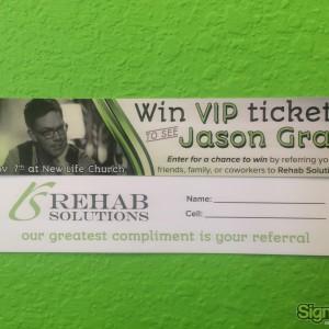 Rehab Solutions – Raffle Ticket Design