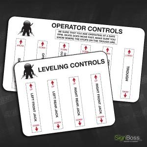Walker Inspection – Control Stickers