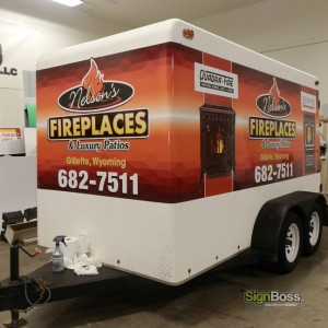 Nelson Fireplaces – Partial Trailer Wrap