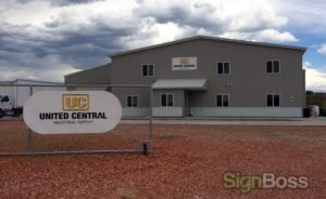 chain link fence signs with brackets in Gillette WY
