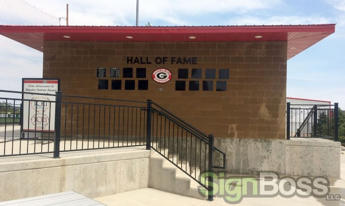 Dimensional letters and metal plaques in Gillette WY