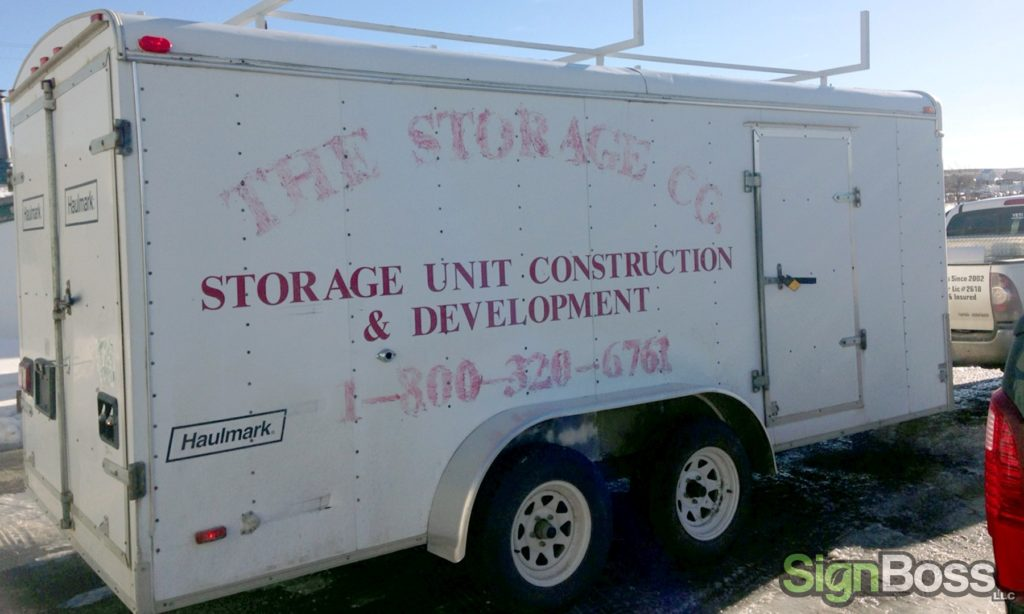 trailer graphics for contractors in Gillette WY