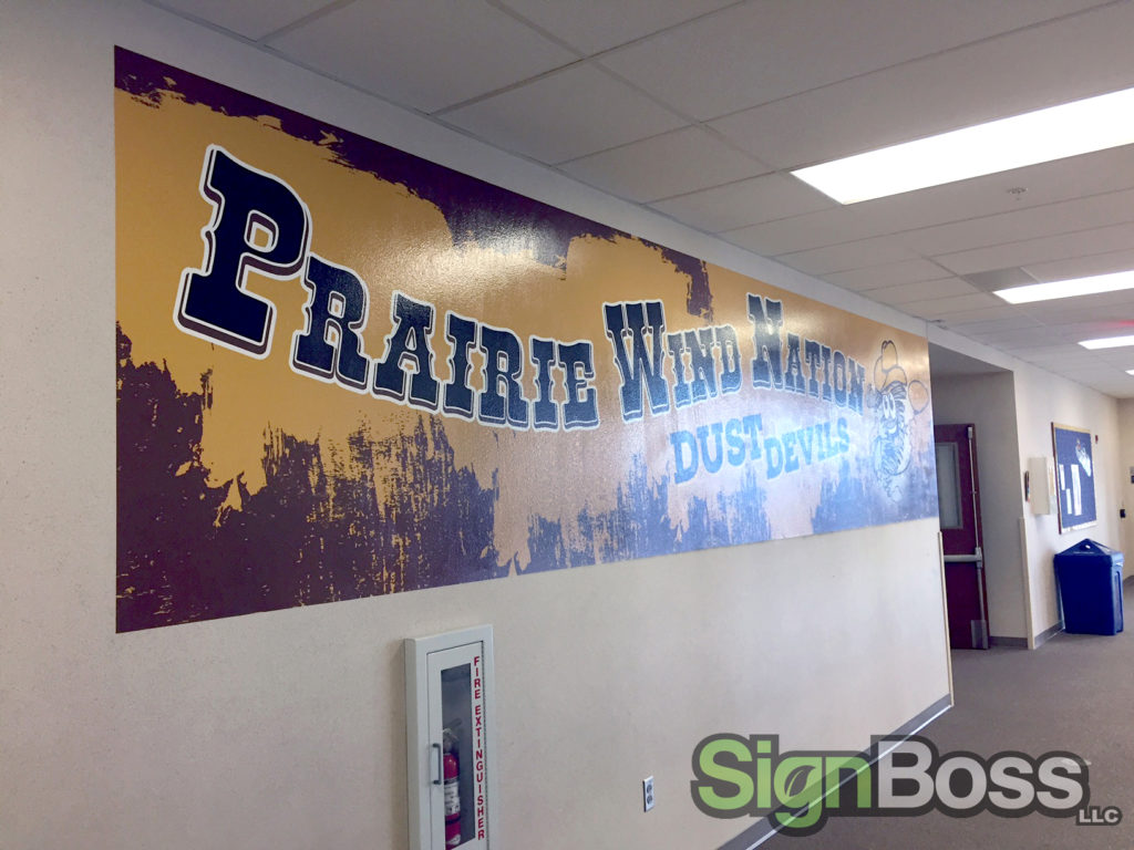 Prairie Wind Elementary Nurtures School Spirit with Wall Murals in