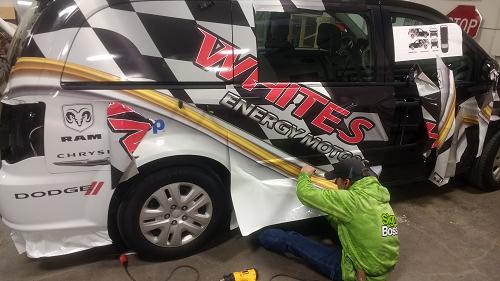Vehicle Wraps For White 39 S Energy Motors Signboss Llc