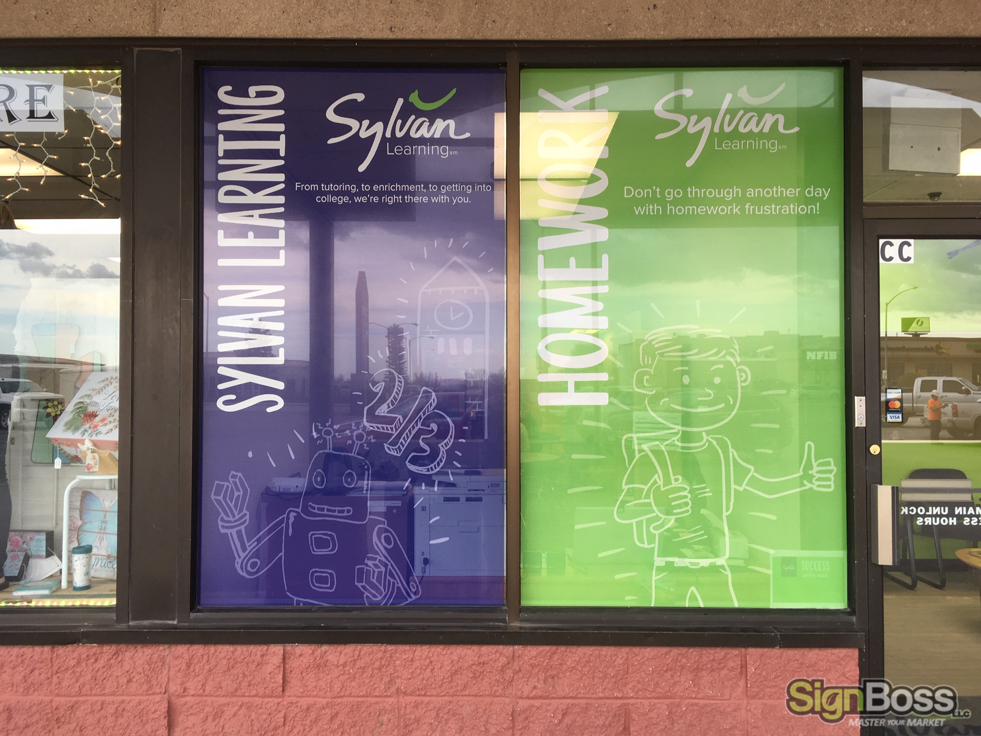 cabinet sign facing and window wraps in Gillette WY