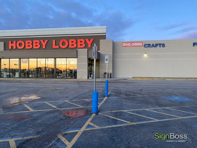 Channel Letters and Banners for New Stores in Gillette WY