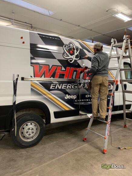 Installing Van Wraps in Gillette WY
