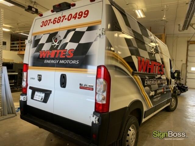 RAM Promaster Partial Van Wraps in Gillette WY