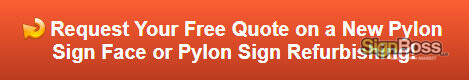 Free quote on new pylon sign facings in Gillette WY