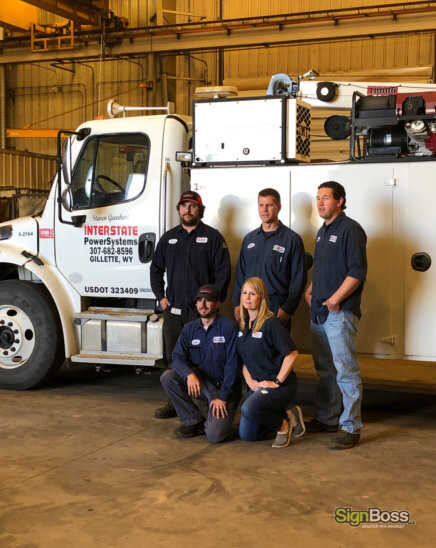 Two Companies Collaborate on a Truck Wrap in Gillette WY