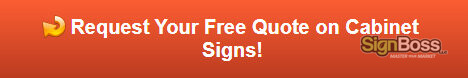 Request a free quote on cabinet signs