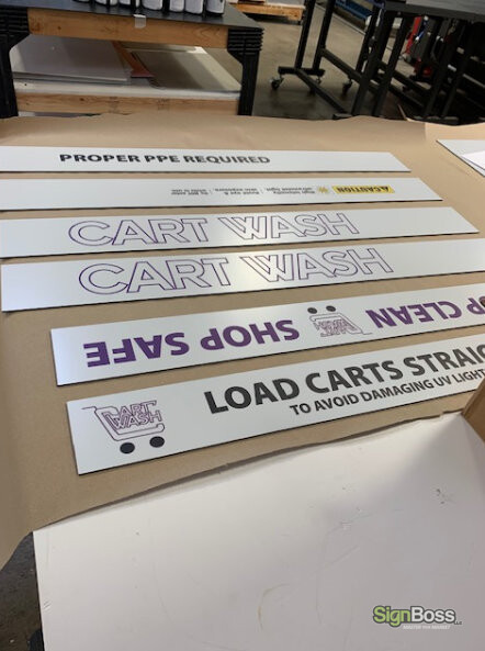 Creating Graphics for CartWash Sanitizing Stations
