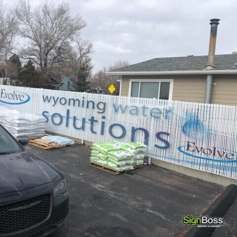 Wyoming Water Solutions Fence Slat Sign
