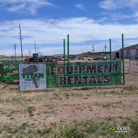 Titan Solution Fence Slat Signs