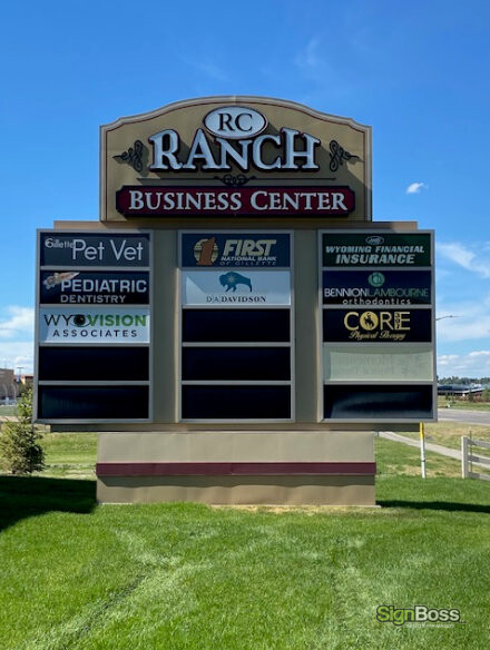 Tenant Panels for Pylon Signs in Gillette WY