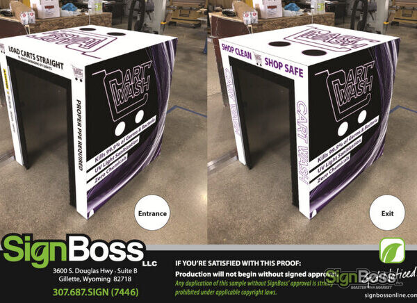 Vinyl Graphics for Sanitizing Stations in Gillette WY