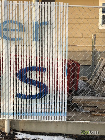 Chain Link Fence Graphics and Slats in Gillette WY