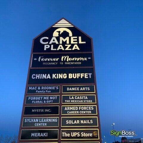 Camel Plaza Monument Sign
