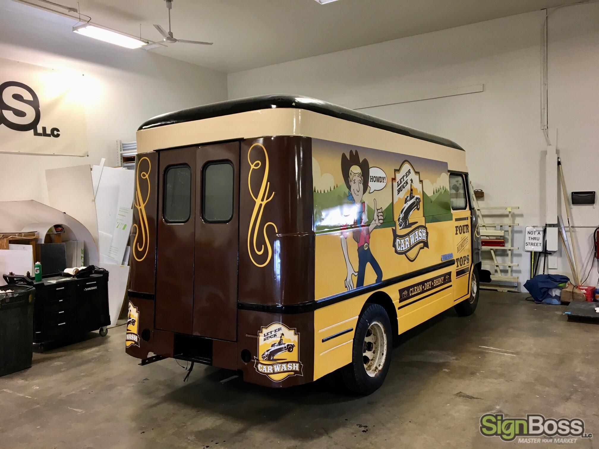 Classic Chevy Van Wraps in Casper WY