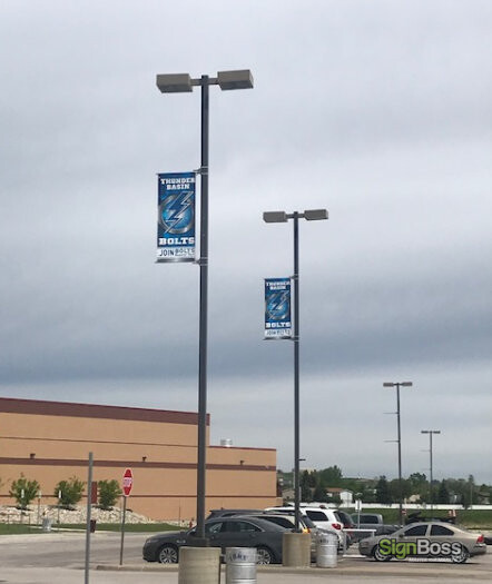 Parking Lot Pole Banners for Schools in Gillette WY