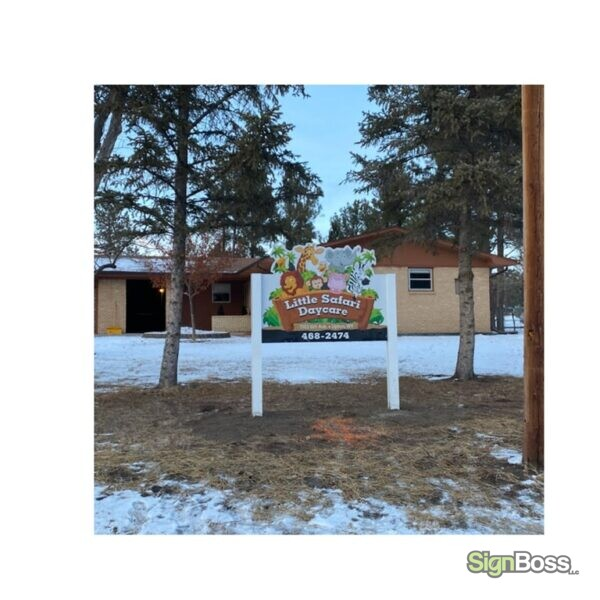 Post and Panel Signs for Daycare Centers in Upton WY