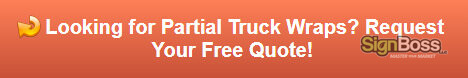 Free quote on partial truck wraps