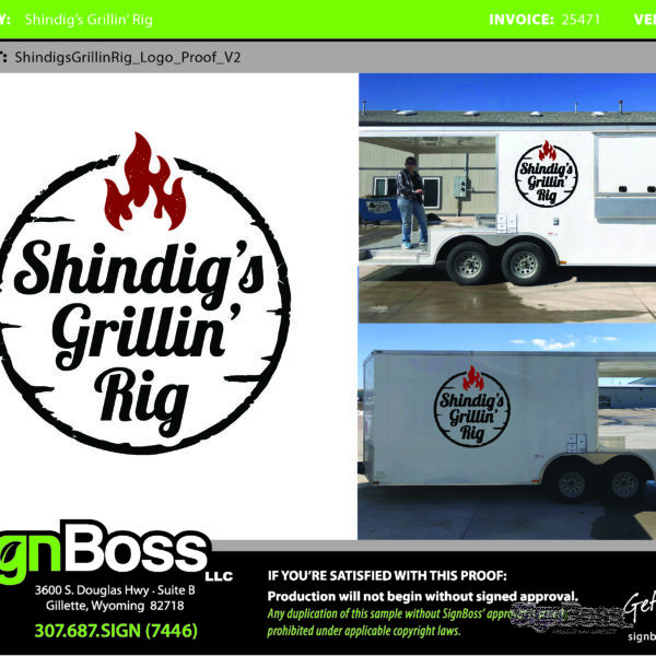 Vehicle Graphic Design Proofs in Gillette WY