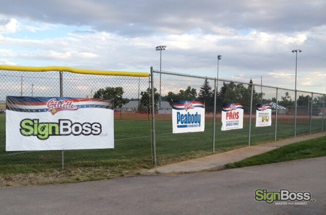 Fence Sponsorship Banners in Gillette WY