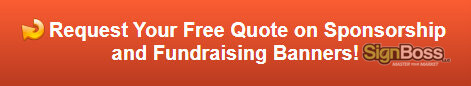 Free quote on sponsorship and fundraising banners