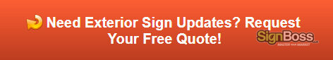 Free quote on exterior sign updates and repair
