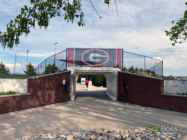 Custom Fence Slats for Sports Stadiums in Gillette WY